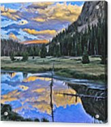 Pondering Reflections Acrylic Print by David Kehrli