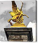 Pont Alexander IIi Fragment In Paris Acrylic Print