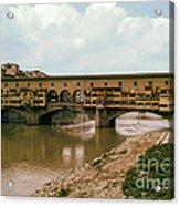Pont De Vecchio On The Arno Acrylic Print