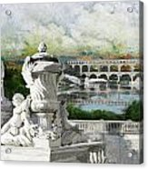 Pont Du Gard Roman Aqueduct Acrylic Print