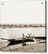 pont George V Bridge over Loire river Orleans Loire Valley France 1900 Acrylic Print