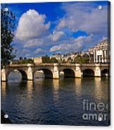 Pont Neuf Over The Seine River Paris Acrylic Print