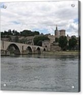 Pont Saint Benezet And Pope Palace Acrylic Print