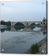 Pont Saint Benezet In The Eveninglight Acrylic Print