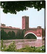 Pont Scaligero On Adige River Acrylic Print