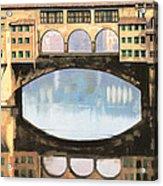 Ponte Vecchio A Firenze Acrylic Print by Guido Borelli