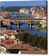 Ponte Vecchio And Arno River Acrylic Print
