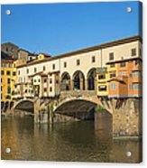 Ponte Vecchio Bridge In Florence Acrylic Print