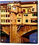 Ponte Vecchio In Florence Acrylic Print
