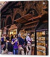 Ponte Vecchio Merchants - Florence Acrylic Print