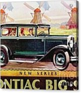Pontiac Big Six - Poster Acrylic Print