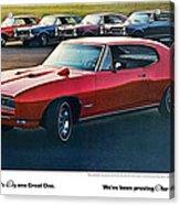 Pontiac Gto - 1964 1965 1966 1967 1968 Acrylic Print