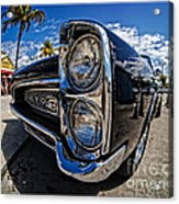 Pontiac Gto Convertible Ft Myers Beach Florida Acrylic Print by Edward Fielding