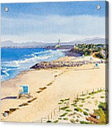 Ponto Beach Carlsbad California Acrylic Print by Mary Helmreich