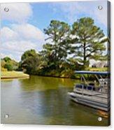 Pontoon Boat Ride On The Lake Acrylic Print