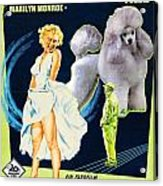 Poodle Art - The Seven Year Itch Movie Poster Acrylic Print