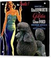 Poodle Standard Art - Gilda Movie Poster Acrylic Print