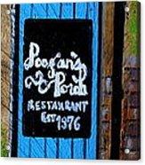 Poogan's Porch Acrylic Print