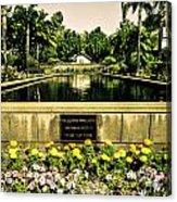 Pool At Nixon Library  Acrylic Print
