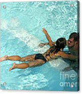 Pool Couple 9717b Acrylic Print
