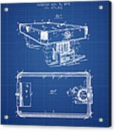 Pool Table Patent From 1892 - Blueprint Acrylic Print