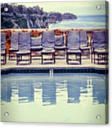 Pool With Views Of The Ocean Acrylic Print