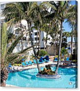 Miami Beach Poolside 03 Acrylic Print