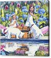 Poolside Tea I Acrylic Print