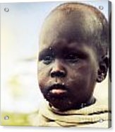 Poor Young Child Portrait. Tanzania Acrylic Print