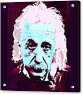 Pop Art Einstein No 3 Acrylic Print