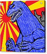Pop Art Godzilla Acrylic Print by Gary Niles