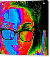 Pop Art Lady Acrylic Print by Arie Arik Chen