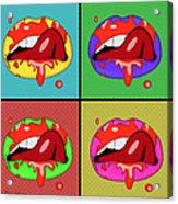 Pop Art Lips  Acrylic Print
