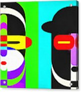 Pop Art People 4 Row Acrylic Print
