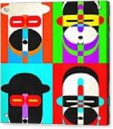 Pop Art People Quattro Acrylic Print
