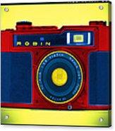 Pop Art Robin Acrylic Print by Mike McGlothlen