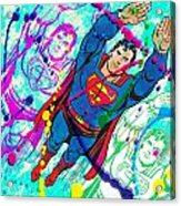 Pop Art Superman Acrylic Print