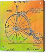 Pop Art Velocipede Patent Acrylic Print