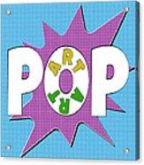 Pop Art Words Splat 01 Acrylic Print