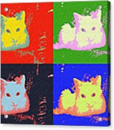 Pop Kitty Acrylic Print