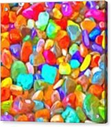 Pop Rocks Abstract Acrylic Print