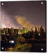 Pop Up Camper Under The Milky Way Sky Acrylic Print
