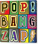 Pop Words Acrylic Print