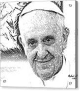 Pope Francis - Jorge Mario Bergoglio Acrylic Print