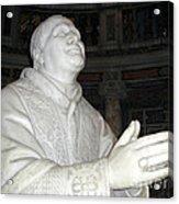 Pope Pius Ix Santa Maria Maggiore Acrylic Print