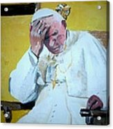 Pope Praying Acrylic Print