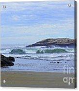 Popham Beach Surf Acrylic Print