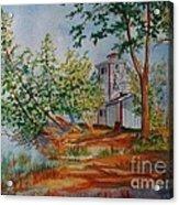 Poplar Point Lighthouse Acrylic Print