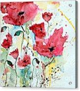 Poppies 05 Acrylic Print by Ismeta Gruenwald