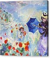 Poppies At Argenteuil Claude Monet Acrylic Print